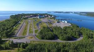 Flygbild Hörnefors trafiksäkerhetscenter