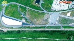 Flygbild Stora Holm Trafikövningsplats